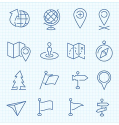 Thin line icons set vector