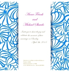 Sea invitation pattern for wedding day vector