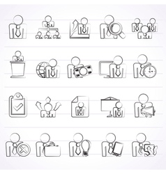 Human resource and business icons vector
