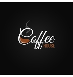 Coffee cup logo design background vector