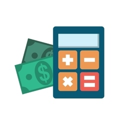 Calculator icon flat vector