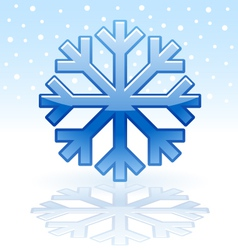 shiny snowflake icon vector image