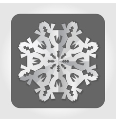 Christmas paper snowflake origami icon paper cut vector