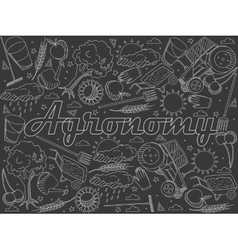 Agronomy chalk vector