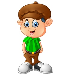 Cartoon boy wearing a hat vector image vector image