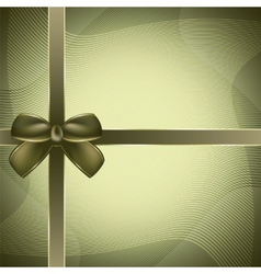 Cover of the present box green background vector image vector image