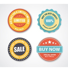 Design stamps for sale in retro style vector image vector image