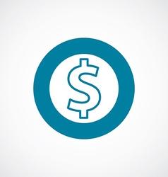 Dollar icon bold blue circle border vector
