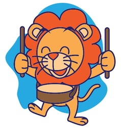 Drum Band Lion vector image