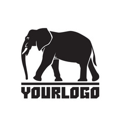 Elephant logo sign emblem-01 vector