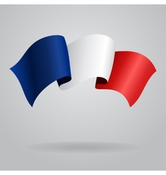 French waving flag vector