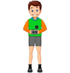 funny photographers cartoon vector image