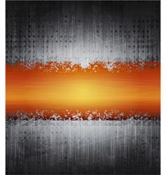 grunge metal banner vector image vector image