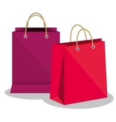 icon bag shop paper design vector image vector image