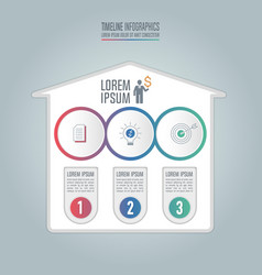 infographic business concept with 3 options vector image vector image