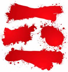 ink splat blood vector image vector image