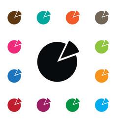 Isolated pie bar icon circle diagram vector