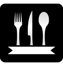 kitchen utensil black icon vector image vector image