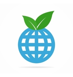 Leaf and globe logo or icon vector