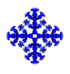 light blue snowflake mushroom icon vector image