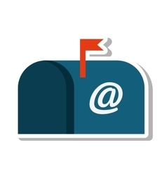 Mailbox message isolated icon vector