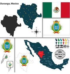 Map of durango vector