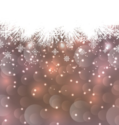 New Year background made in snowflakes copy space vector image