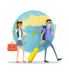 People on vacation concept flat design vector