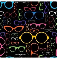 Retro Color Glasses Silhouettes vector image