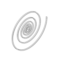 Spiral icon in isometric 3d style vector image