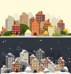 Town Season vector image