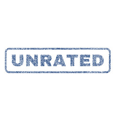 Unrated textile stamp vector
