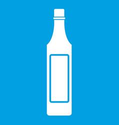 Vinegar bottle icon white vector