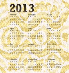 2013 calendar albino snake skin vector image