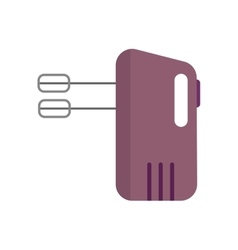 Electrical hand mixer and dishware isolated vector