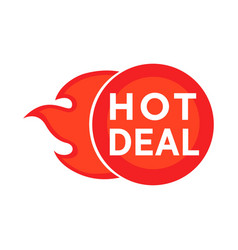 Hot deal symbol vector