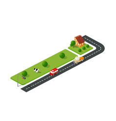 Urban street road vector