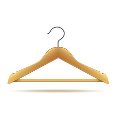 Wooden hanger isolated on white vector