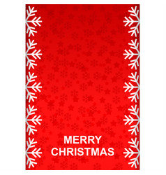 Christmas greeting background with snowflakes vector