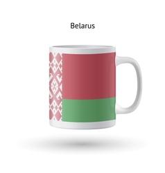 Belarus flag souvenir mug on white background vector