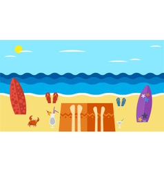 Summer island 01 vector
