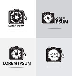 Dslr camera logo vector