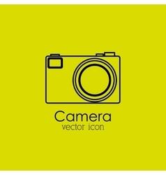 camera isolated icon design vector image