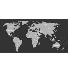 Political map of World vector image