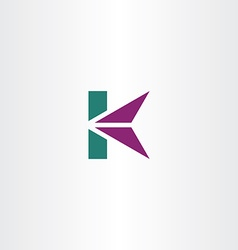 Letter k logo icon k logotype sign vector
