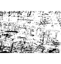 Top secret inscription vector