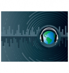 Dj globe background vector