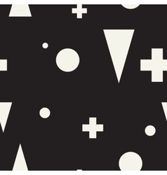 Geometric minimalist seamless black and white vector
