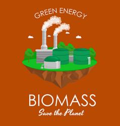 Alternative energy power industry biomass power vector