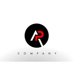 ap logo letter design vector image vector image